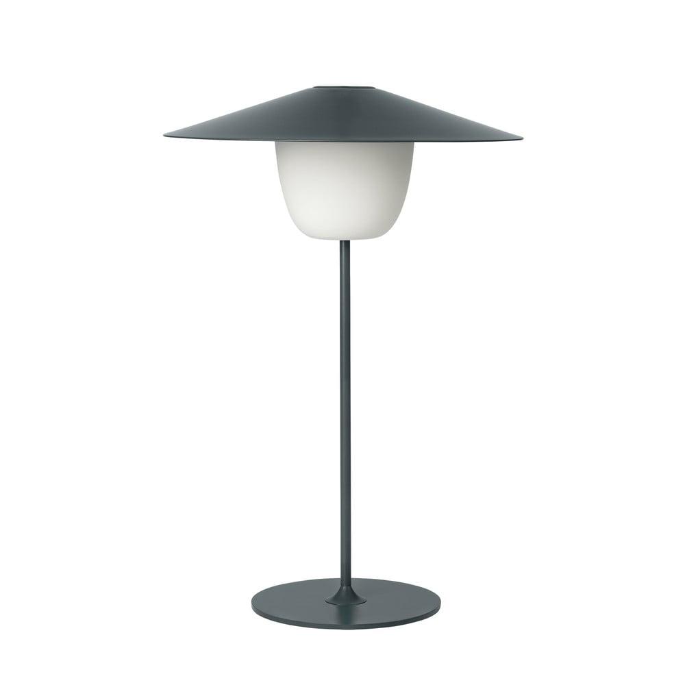 Ciemnoszara średnia lampa led Blomus Ani Lamp