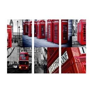 Obraz trzyczęściowy Ach, ten Londyn