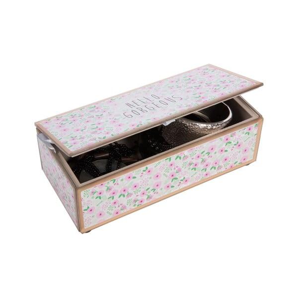 Szklana szkatułka na biżuterię Hello Gorgeous