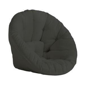 Ciemnoszary fotel rozkładany odpowiedni na zewnątrz Karup Design OUT™ Nido Dark Grey