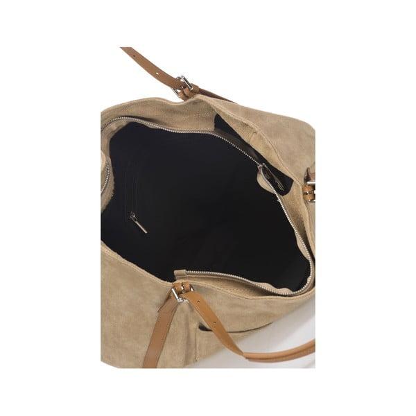 Skórzana torebka Krole Karin, beżowa