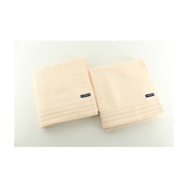 Komplet 2 ręczników Towel US Polo Hand Yellow, 50x100