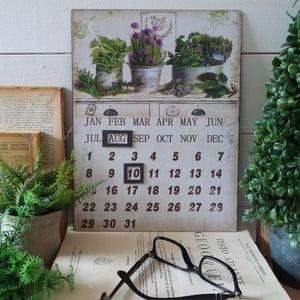 Metalowy kalendarz stołowy Herbs