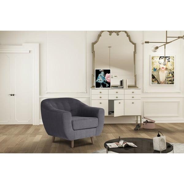 Antracytowy fotel Jalouse Maison Vicky
