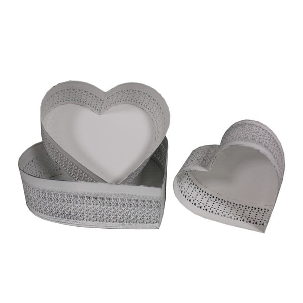 Zestaw 3 tac Antic Line Heart Shape