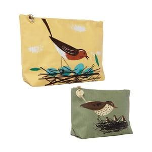 Zestaw 2 kosmetyczek Birdy Robin