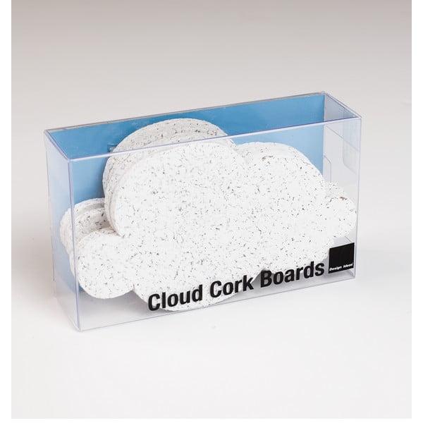 Komplet 4 tabliczek korkowych Design Ideas Mini Cloud