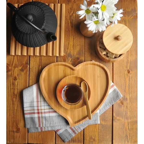 Półmisek do serwowania z bambusu Bambum Amor, szer. 23 cm
