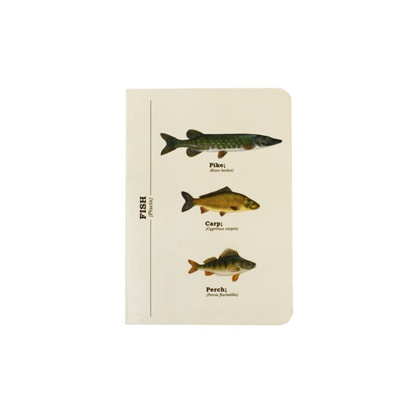 Notes Gift Republic Multi Fish, A6