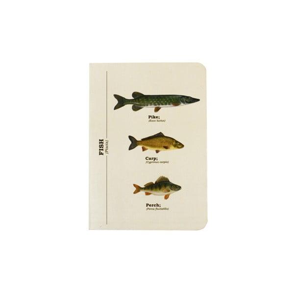 Notes Gift Republic Multi Fish, A6