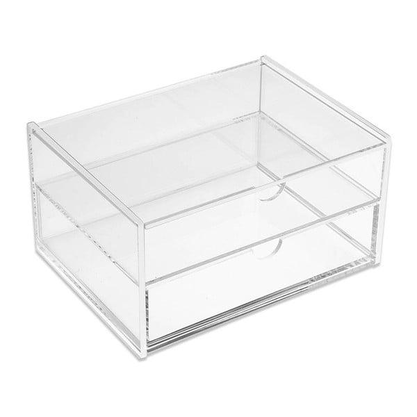 Podwójny przezroczysty organizer Double Box