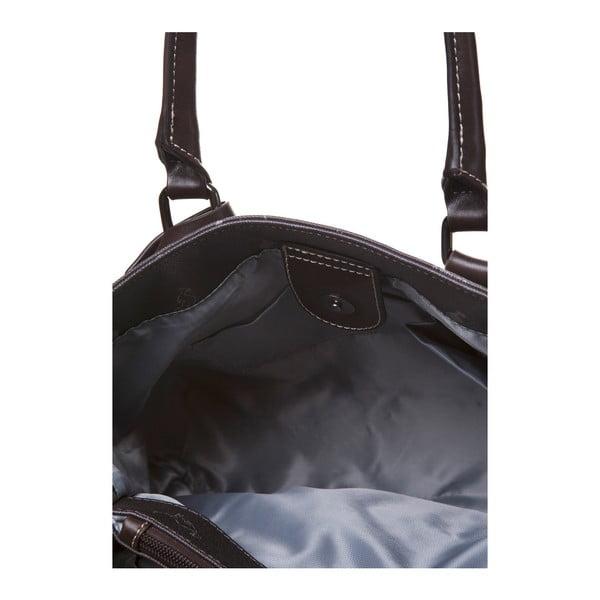 Skórzana torebka do ręki Canguru Tag, brązowa