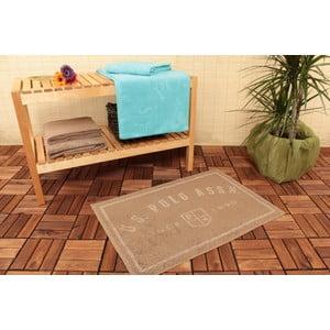 Dywanik łazienkowy i 4 ręczniki U.S. Polo Assn. Family Brown