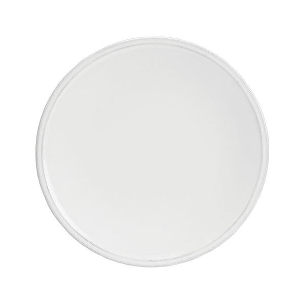 Biały kamionkowy talerz deserowy Costa Nova Friso, ⌀22cm