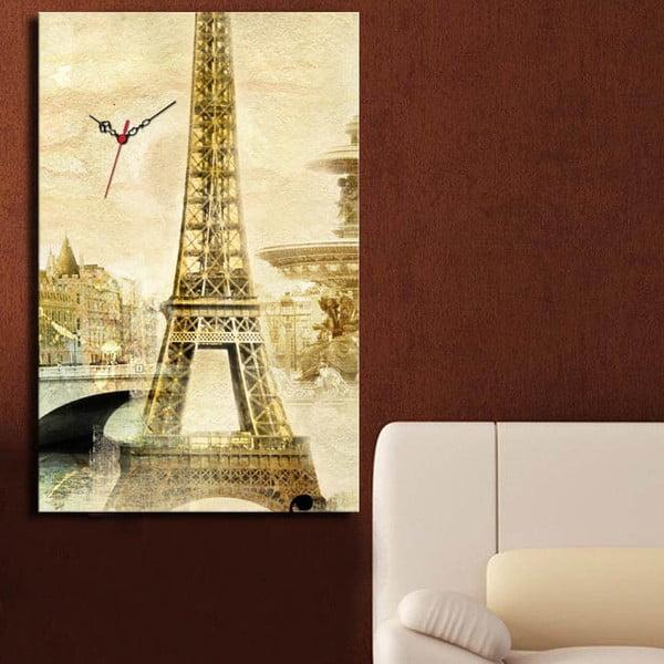 Obraz z zegarem Eiffel Tower