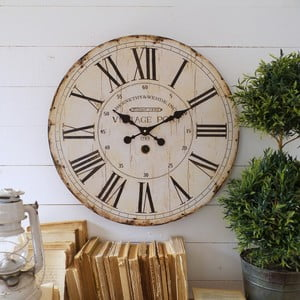 Zegar ścienny Orchidea Vintage Port