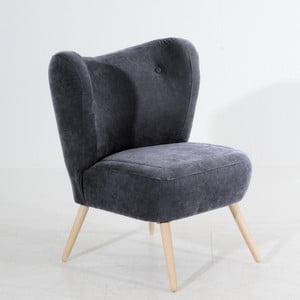 Antracytowy fotel Max Winzer Sari Velur