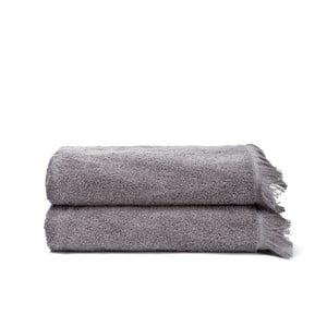 Komplet 2 szarych ręczników kąpielowych Casa Di Bassi Bath, 70x140 cm