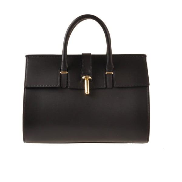 Skórzana torebka Emilio Masi Dabo, czarna