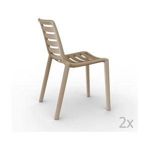 Zestaw 2 beżowych krzeseł ogrodowych Resol Slatkat