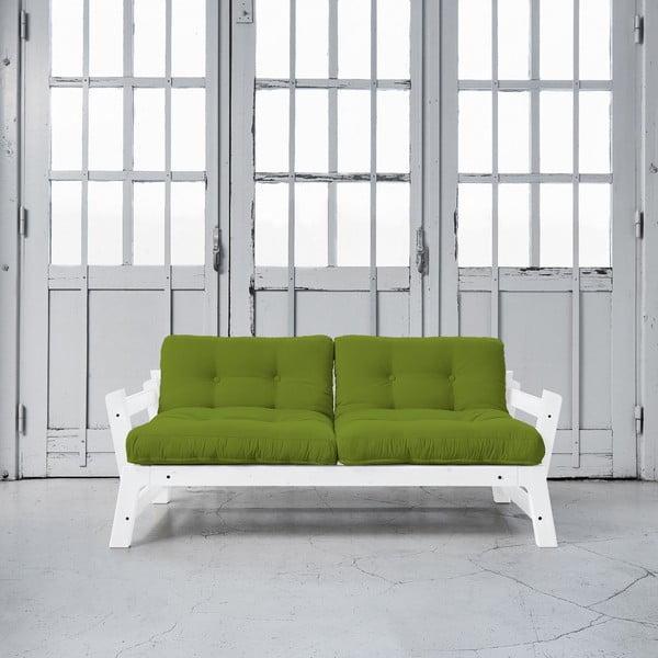 Sofa rozkładana Karup Step White/Lime