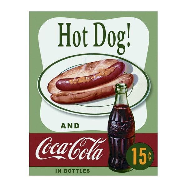 Blaszana tabliczka Hot Dog & Cola, 30x40 cm