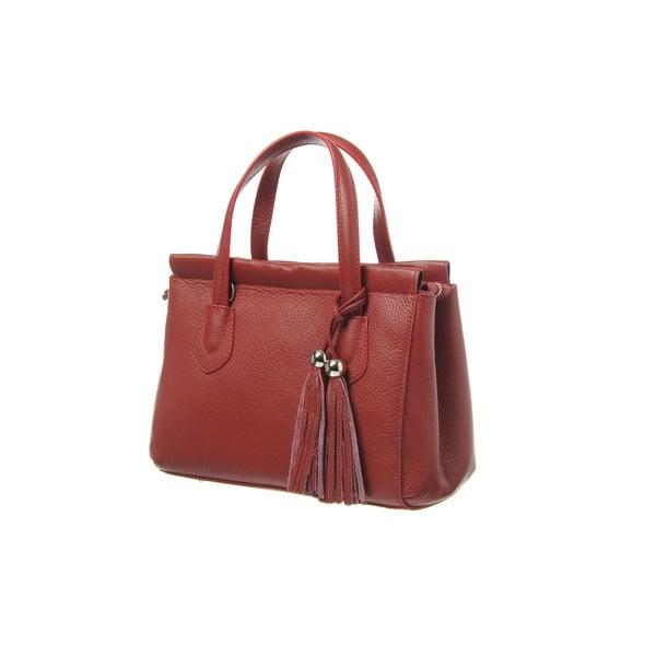 Skórzana torebka Glam Red