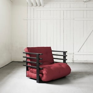 Fotel rozkładany Karup Funk Black/Bordeaux