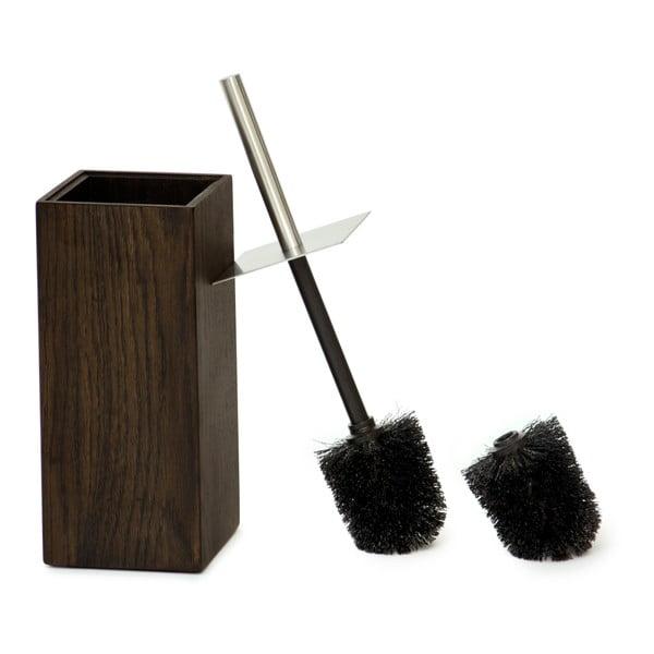 Szczotka toaletowa Mezza Dark z drewna dębowego Wireworks