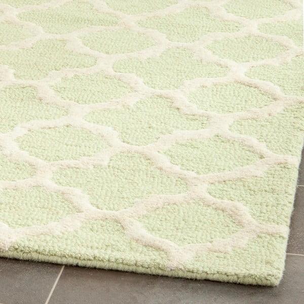 Wełniany dywan Bessa Light Green, 121x182 cm