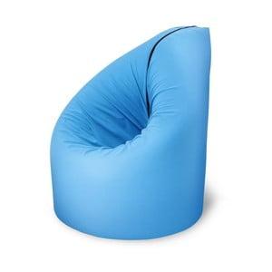 Niebieski fotel rozkładany Paq Bed