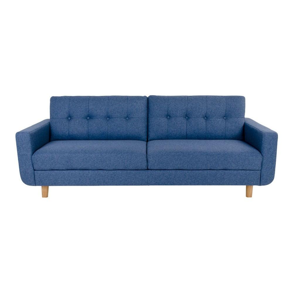 Niebieska sofa 3 osobowa house nordic artena bonami for Sofa nordic