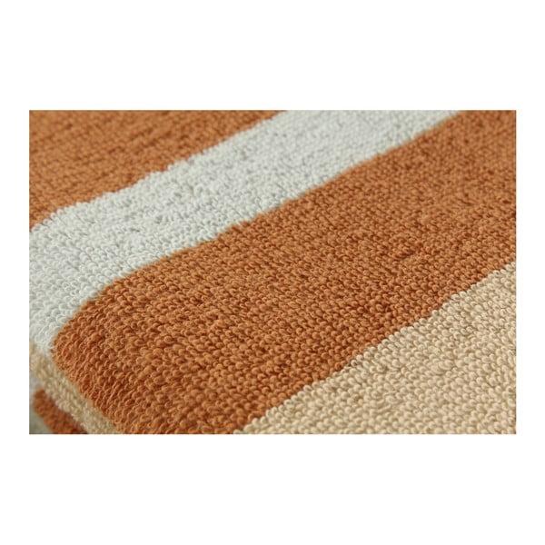 Zestaw 3 kremowych ręczników Punkte Nougat, 50x100 cm