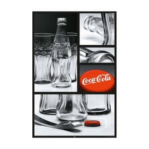 Plakat Coca Cola Glass, 61x91 cm
