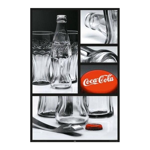 Plakat Coca Cola Glass, 61x91 cm