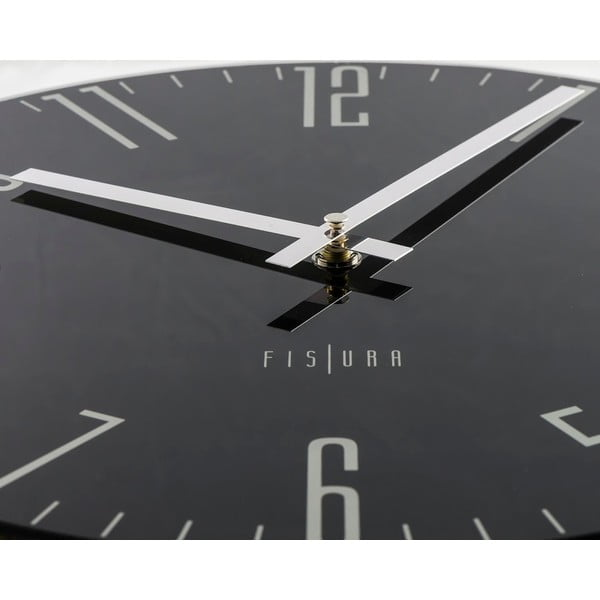 Zegar Slim Black, 35 cm