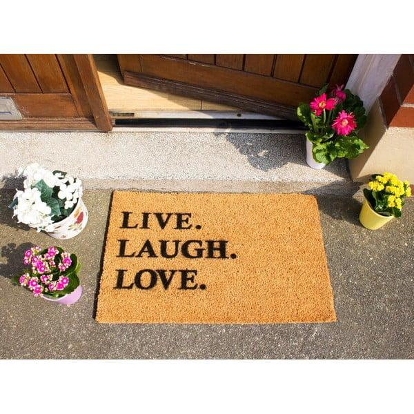 Wycieraczka Artsy Doormats Live Laugh Love, 40x60 cm