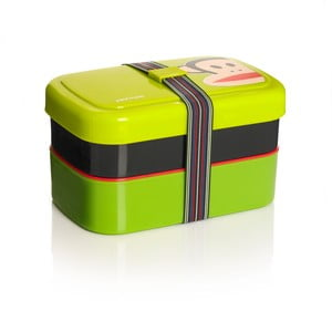 Dwupoziomowe pudełko śniadaniowe, zielone