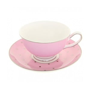 Filiżanka ze spodkiem Bombay Duck Miss Darcy Pink