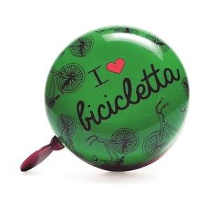 Dzwonek I ♥ Bicicleta, zielony