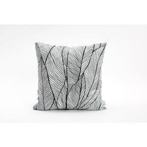 Czarno-biała poszewka na poduszkę Mikabarr Pinion, 45x45 cm