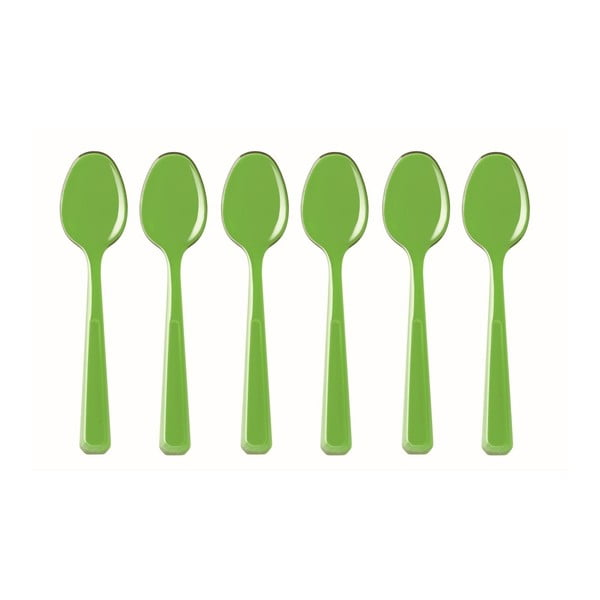 Zielony zestaw 6 łyżeczek Fratelli Guzzini