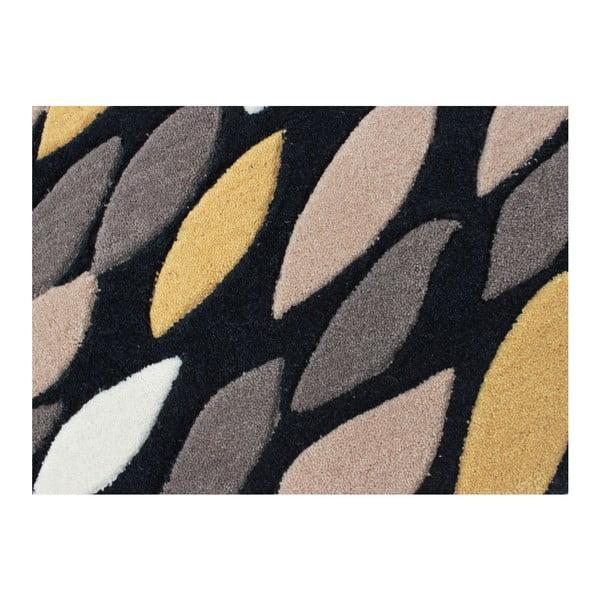 Dywan Flair Rugs Swirl Black/Gold, 160x230 cm