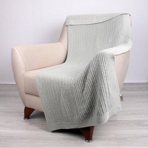 Mietowoniebieski koc bawełniany Homemania Clen, 170x130 cm