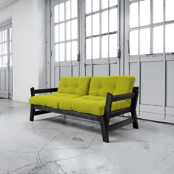 Sofa rozkładana Karup Step Black/Pistacio