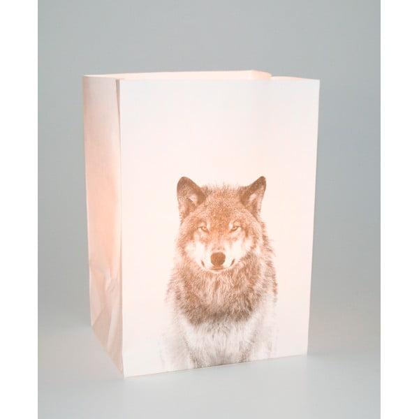 Zestaw 2 lampionów Wolf