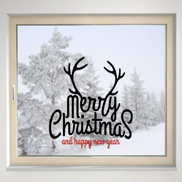 Elektrostatyczna naklejka Merry Christmas