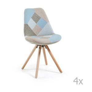 Zestaw 4 krzeseł La Forma Lars Patchwork