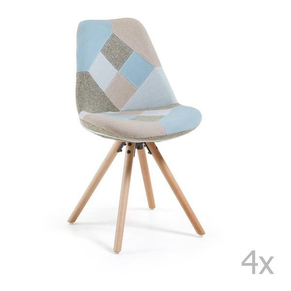 Zestaw 4 krzeseł jadalnianych La Forma Lars Patchwork