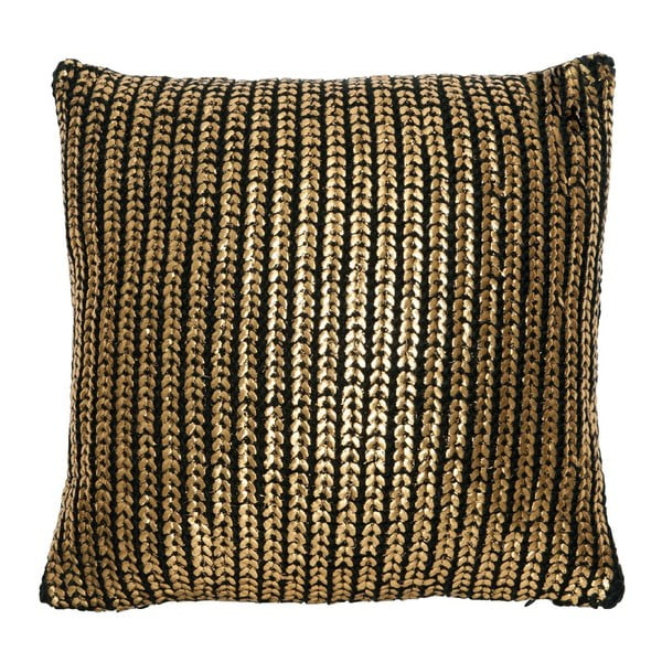 Poduszka Gold Knit, 45 x 45 cm